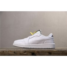 Air Jordan 1 Unisex RET Low Slip All White AV3918-100 36-46