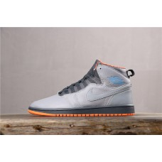 Air Jordan 1 Retro 94 Bobcats Gray Orange 631733-032 40-45