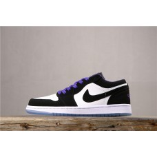 Air Jordan 1 low Black White Purple 553558-108 40-45