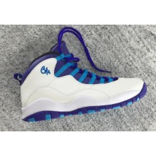 Cheap Jordan 10 Charlotte white blue Item No 310805-107 41-47