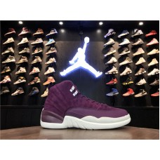Cheap Jordan 12 Bordeaux purple white Item No 130690-617 40-47