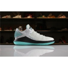 Cheap Air Jordan XXXII Low Jade Blue White Black AH3347-101 40-47