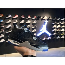 Cheap Jordan 4 Black White blue 36-47.5