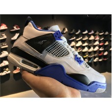 Cheap Jordan 4 Retro Motorsport blue white black 36-46