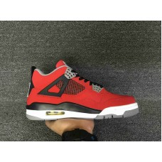 Cheap Jordan 4 Toro Bravo red black white 36-46