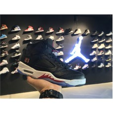 Cheap Jordan 5 black red 40-46